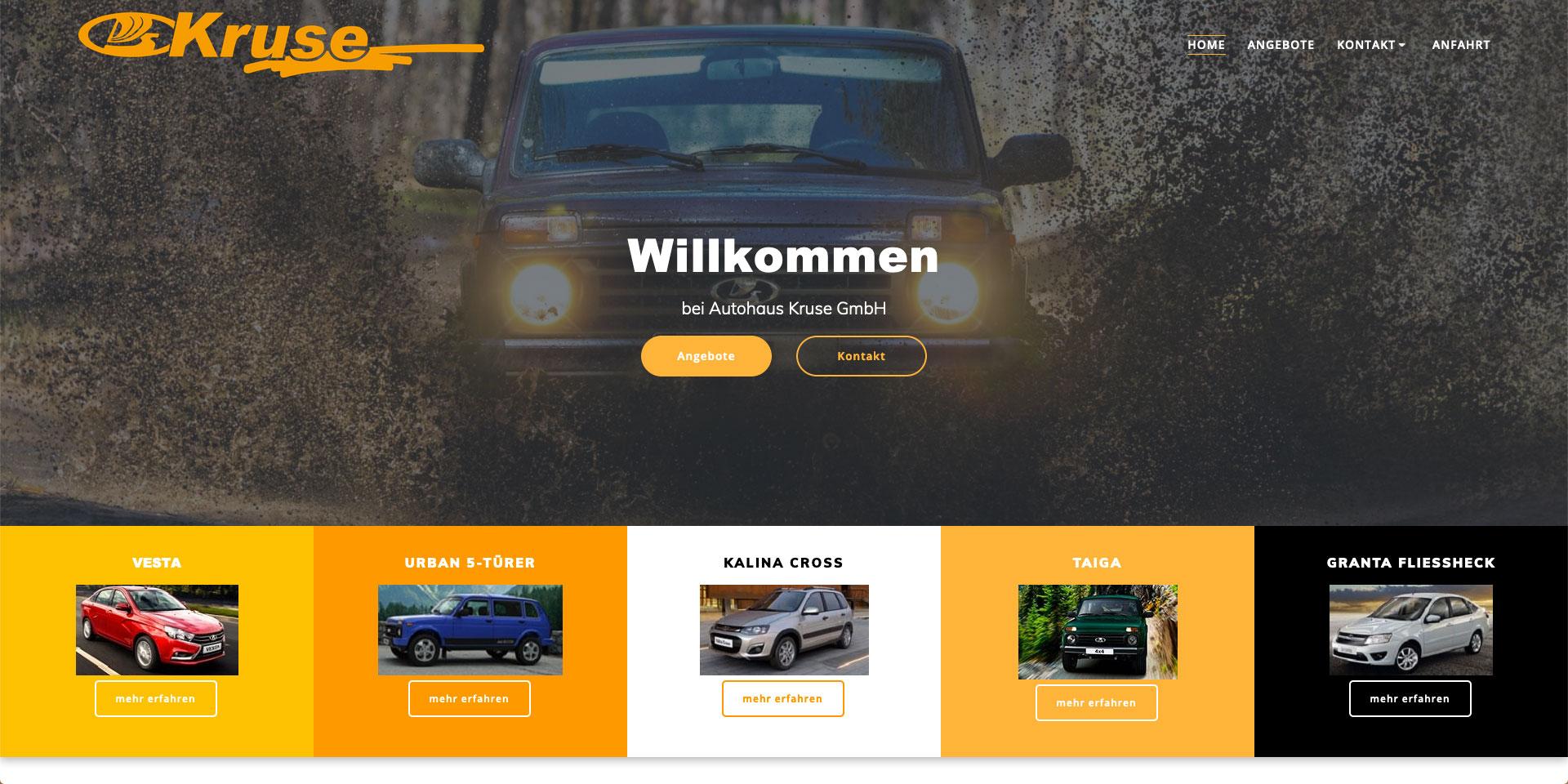 Webpräsenz, Webgestaltung, Autohaus Kruse GmbH
