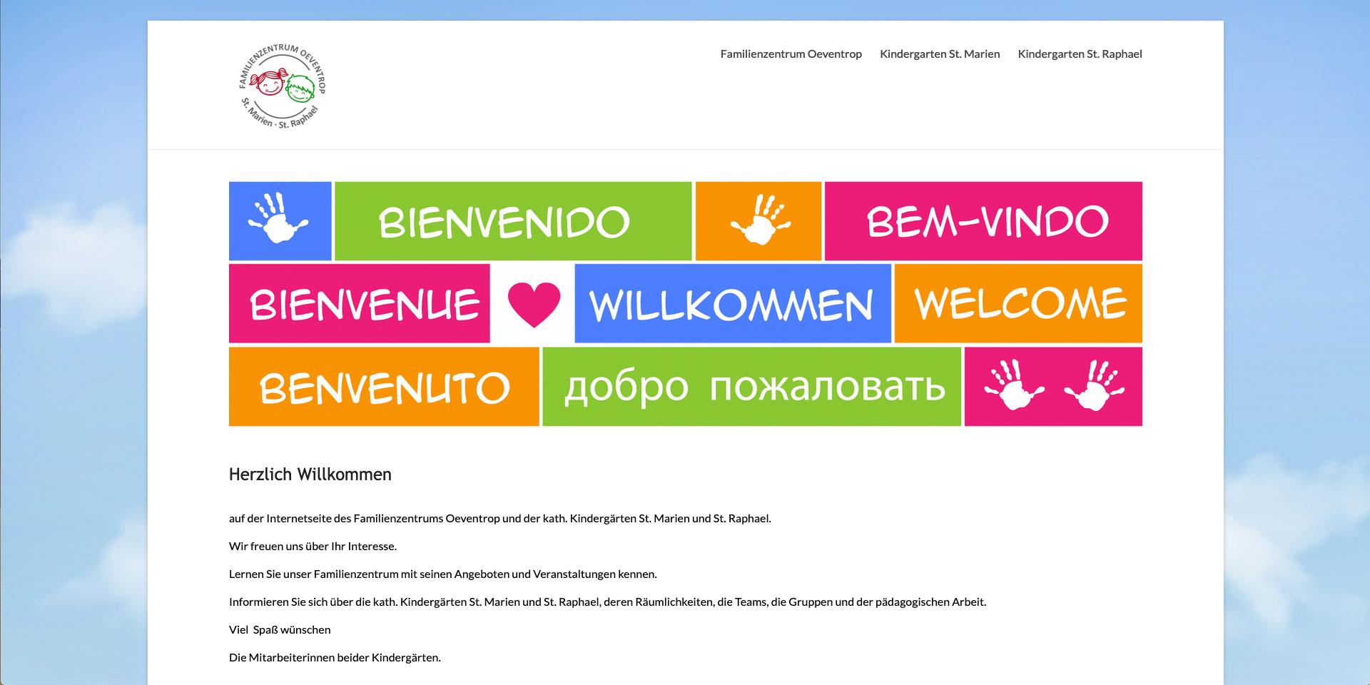 Webgestaltung, Familienzentrum Oeventrop