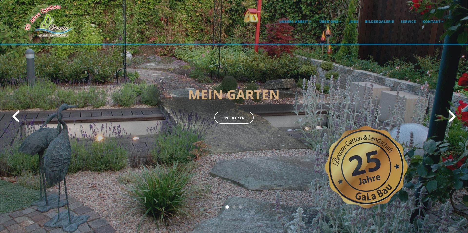 Webdesign, Webgestaltung, Gartenbau Braun