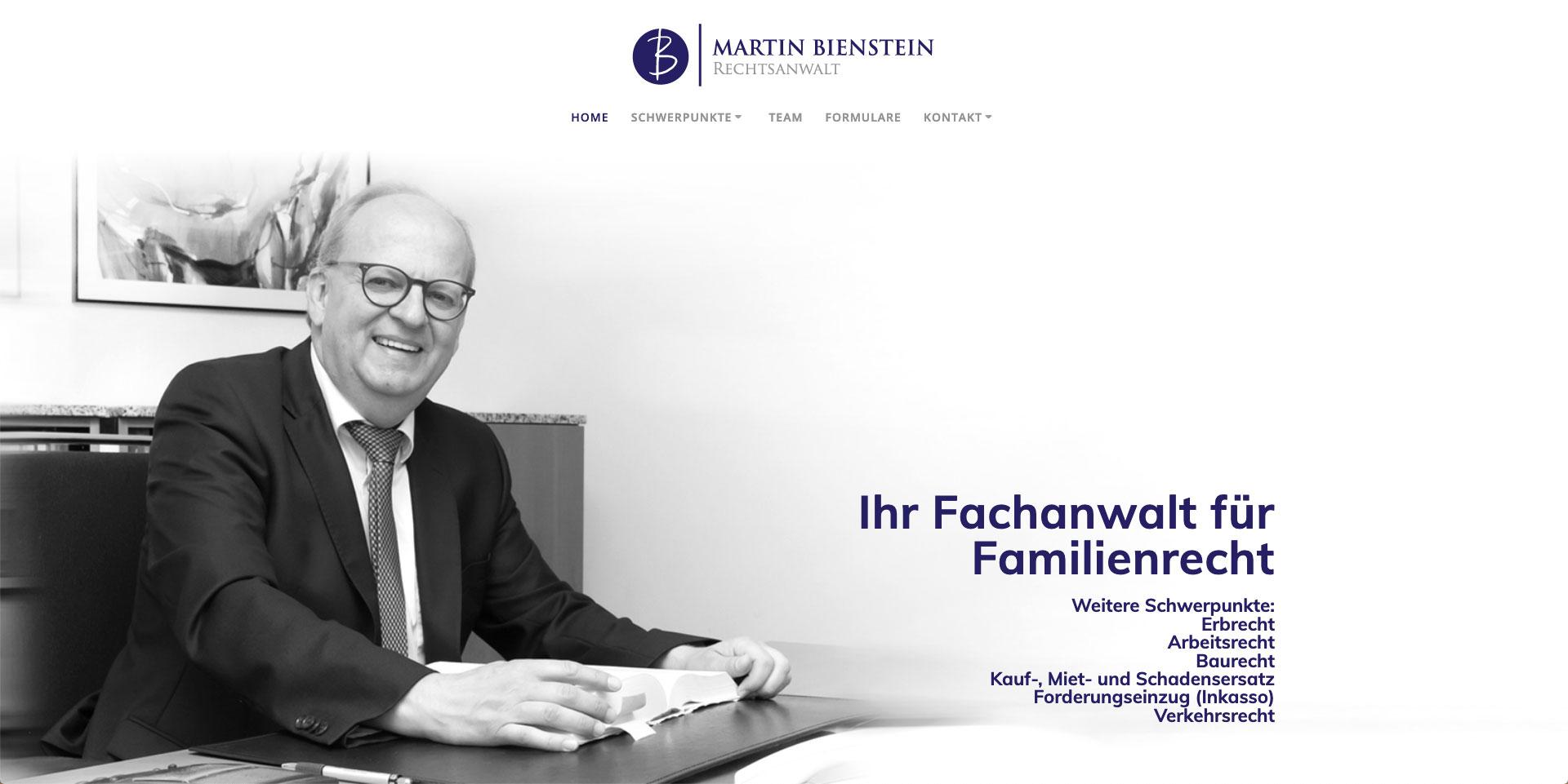Webgestaltung, Rechtsanwalt Martin Bienstein