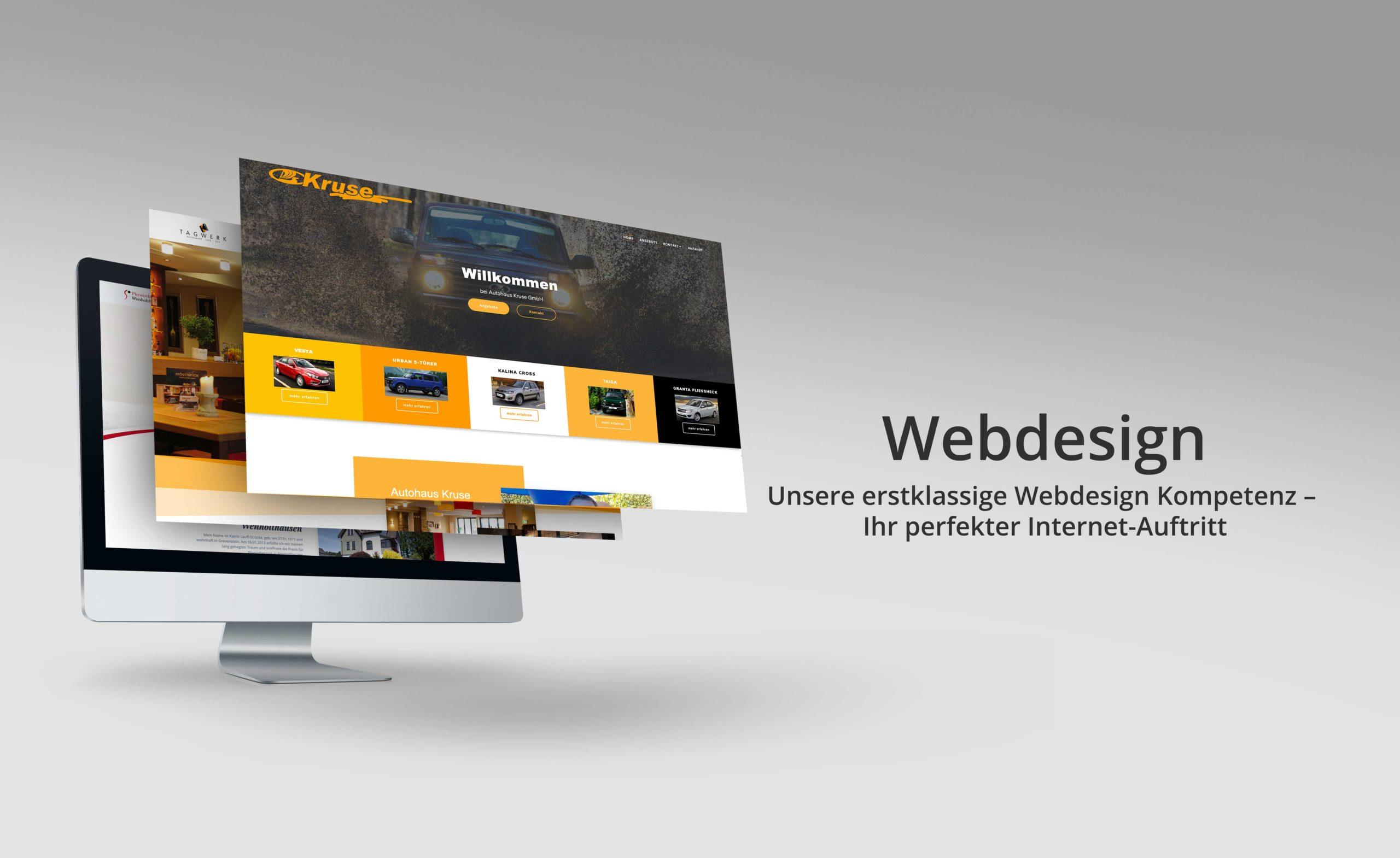 Webdesign - Unsere erstklassige Webdesign Kompetenz - Ihr perfekter Internetauftritt